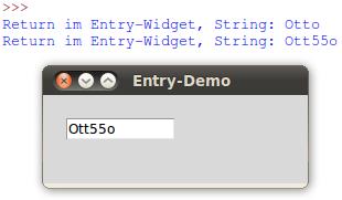 Informatik - Python - TkInter - Entry